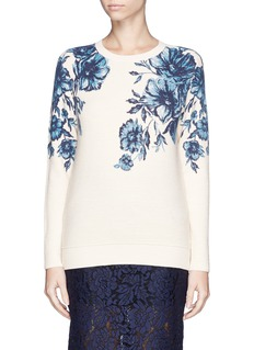 TORY BURCH'Tia' floral print sweater