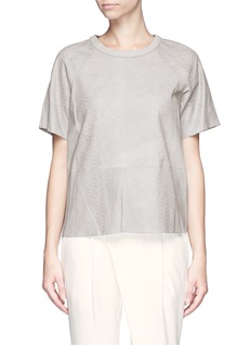VINCEPython embossed lamb leather top