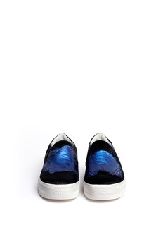 ASH 'Jungle' pony hair and metallic slip-ons