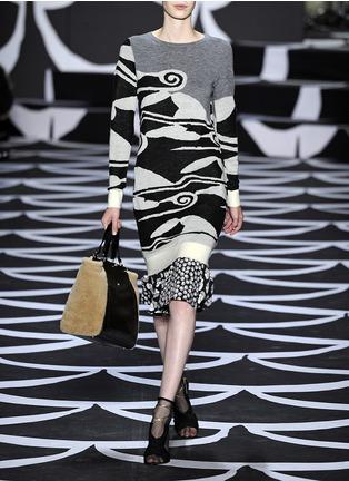 Detail View - Click To Enlarge - DIANE VON FURSTENBERG - 'Berlin' wool knit dress