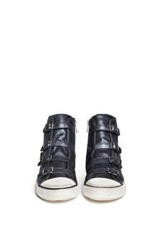 ASH'Virgin' buckle metallic leather sneakers