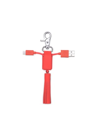 Native Union - 'Power Link' leather tassel lightning charging cable - Coral