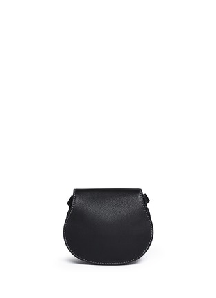 Back View - Click To Enlarge - Chloé - 'Marcie' small leather crossbody saddle bag