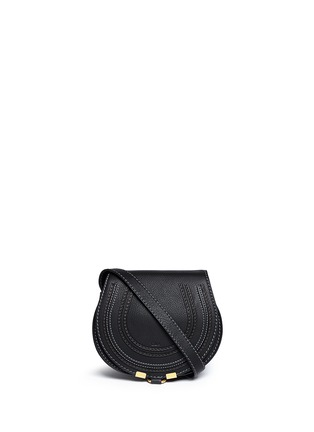 Main View - Click To Enlarge - Chloé - 'Marcie' small leather crossbody saddle bag