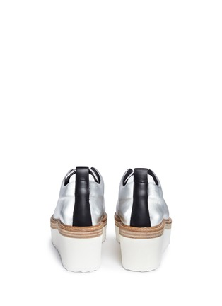 Back View - Click To Enlarge - Pierre Hardy - 'Mega Slider' elastic band metallic leather wedge sneakers
