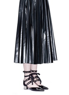 self-portrait x Robert Clergerie 'Susa' eyelet strappy patent leather pumps
