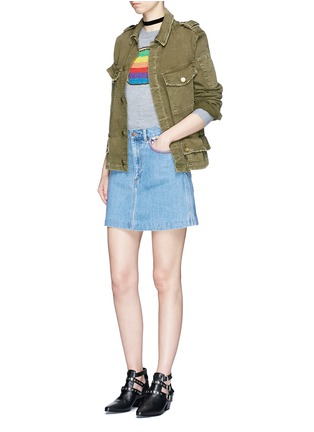 Figure View - Click To Enlarge - Marc Jacobs - Mixed patch denim skirt