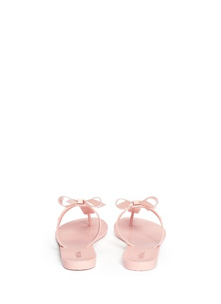 Melissa-'T Bar V' bow flip flops