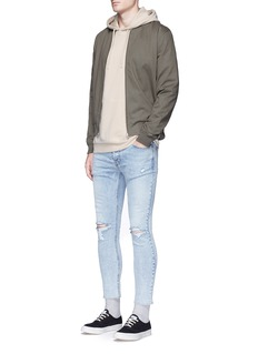 Topman Distressed cropped skinny jeans