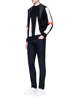 Neil BarrettSuper skinny fit coated denim jeans