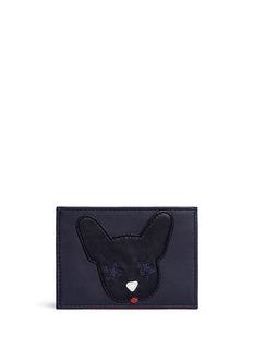 Etre Cecile 'Dog Face' leather card holder