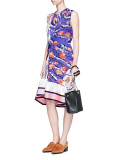 Emilio Pucci 'Ranuncoli' stripe hem ruched waist silk dress