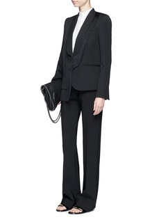 Stella McCartney 'Floraine' fringe tuxedo wool jacket