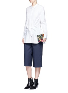 3.1 Phillip Lim Knot waist cotton poplin shirt