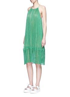 Stella McCartney'Joy' star Lurex plissé pleat silk dress