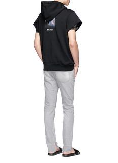 Palm AngelsUnicorn print short sleeve hoodie