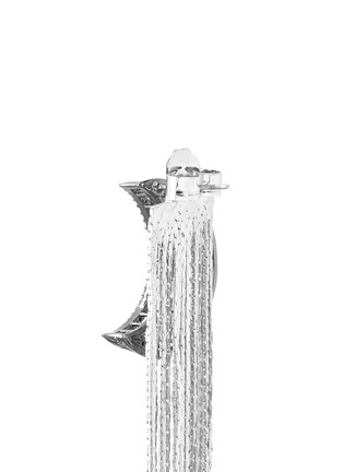 Detail View - Click To Enlarge - Venna - Strass pavé moon fringe drop earrings