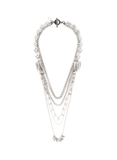 VennaPearl star fringe mix chain necklace