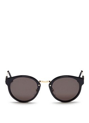 Main View - Click To Enlarge - SUPER - 'Panamá' metal temple acetate sunglasses