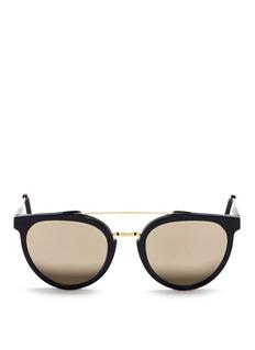 SUPER'Giaguaro' metal bridge acetate sunglasses