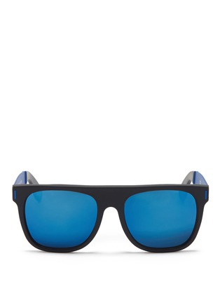 Main View - Click To Enlarge - SUPER - 'Flat Top' mirror acetate sunglasses