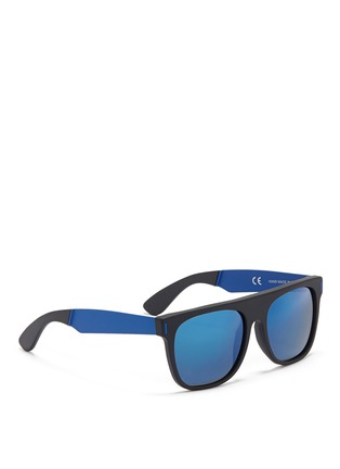 Figure View - Click To Enlarge - SUPER - 'Flat Top' mirror acetate sunglasses