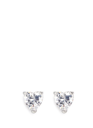 Main View - Click To Enlarge - CZ by Kenneth Jay Lane - Heart cubic zirconia stud earrings