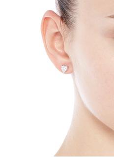 CZ by Kenneth Jay LaneHeart cubic zirconia stud earrings
