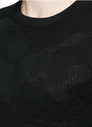 Detail View - Click To Enlarge - Neil Barrett - Camouflage ottoman knit sweater