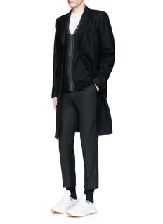 Neil Barrett Shoulder panel Merino wool zip cardigan