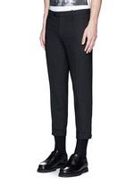 Adjustable zip cuff bistretch gabardine pants