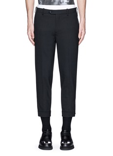 Neil BarrettAdjustable zip cuff bistretch gabardine pants