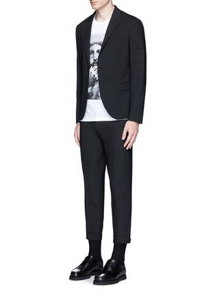 Figure View - Click To Enlarge - Neil Barrett - Adjustable zip cuff bistretch gabardine pants