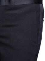 Satin tuxedo stripe virgin wool pants