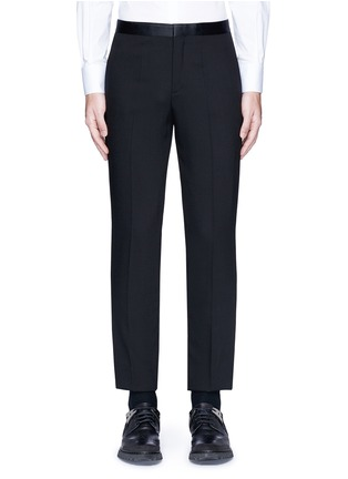 Main View - Click To Enlarge - Neil Barrett - Satin tuxedo stripe virgin wool pants
