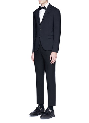 Figure View - Click To Enlarge - Neil Barrett - Satin tuxedo stripe virgin wool pants