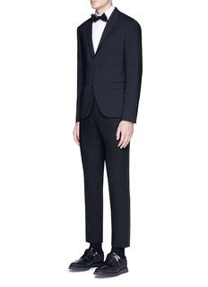 Neil BarrettSatin tuxedo stripe virgin wool pants
