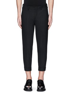 Neil Barrett Zip cuff bistretch gabardine cropped pants