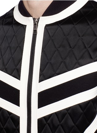 Detail View - Click To Enlarge - Neil Barrett - Contrast trim quilted bomber jacket