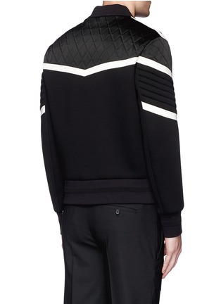 Back View - Click To Enlarge - Neil Barrett - Contrast trim quilted bomber jacket