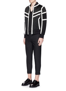 Neil Barrett Contrast trim quilted bomber jacket