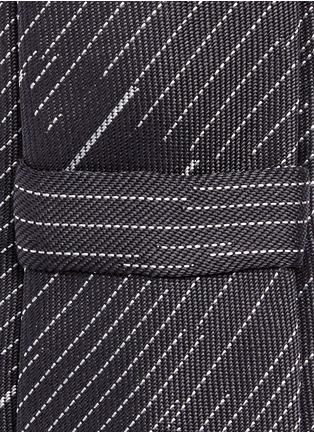 Neil Barrett-Camouflage pinstripe silk tie