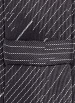 Camouflage pinstripe silk tie