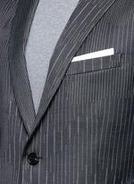 Slim fit camouflage pinstripe blazer