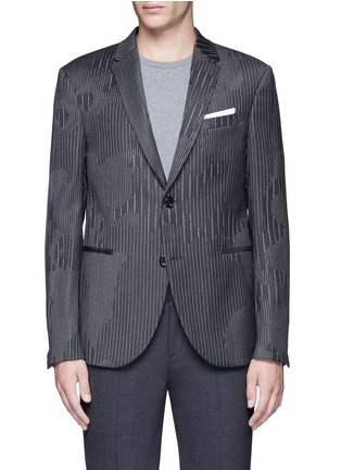 Main View - Click To Enlarge - Neil Barrett - Slim fit camouflage pinstripe blazer