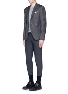 Neil BarrettSlim fit camouflage pinstripe blazer