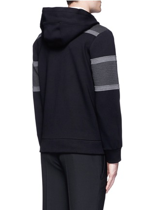 Back View - Click To Enlarge - Neil Barrett - Panelled bonded jersey zip hoodie