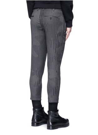 Back View - Click To Enlarge - Neil Barrett - Camouflage pinstripe zip cuff cropped pants