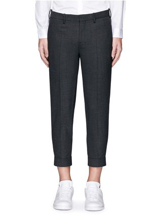 Main View - Click To Enlarge - Neil Barrett - Zip cuff bistretch gabardine cropped pants