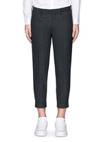 Zip cuff bistretch gabardine cropped pants